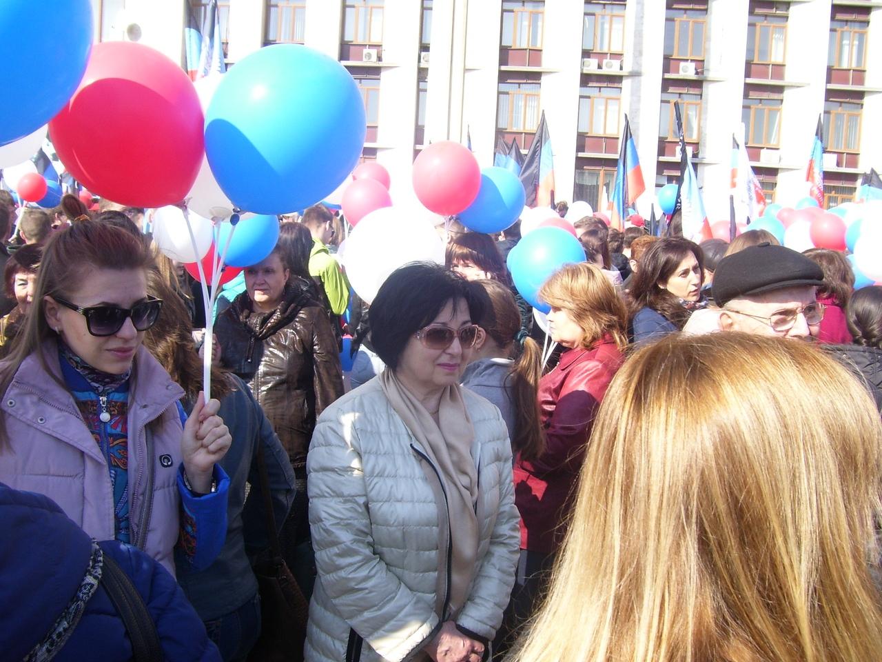 Митинг, посвященный 5-й годовщине провозглашения Донецкой Народной Республики