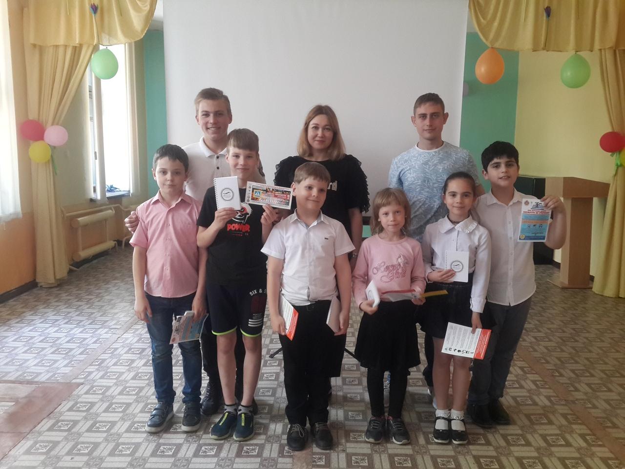 В школе № 10 г. Донецка также прошел Урок безопасности дорожного движения