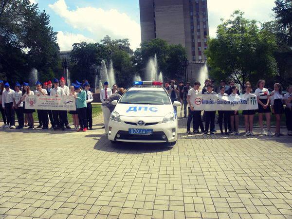 Урок безопасности дорожного движения «На дороге – без спешки!» провели в многопрофильном лицее №1 города Донецка