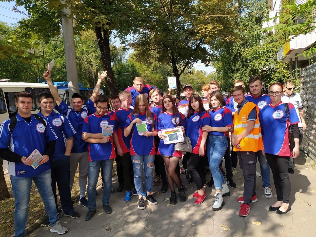 Подведены итоги участия студентов-волонтеров Донецкой академии транспорта в Республиканской неделе безопасности дорожного движения